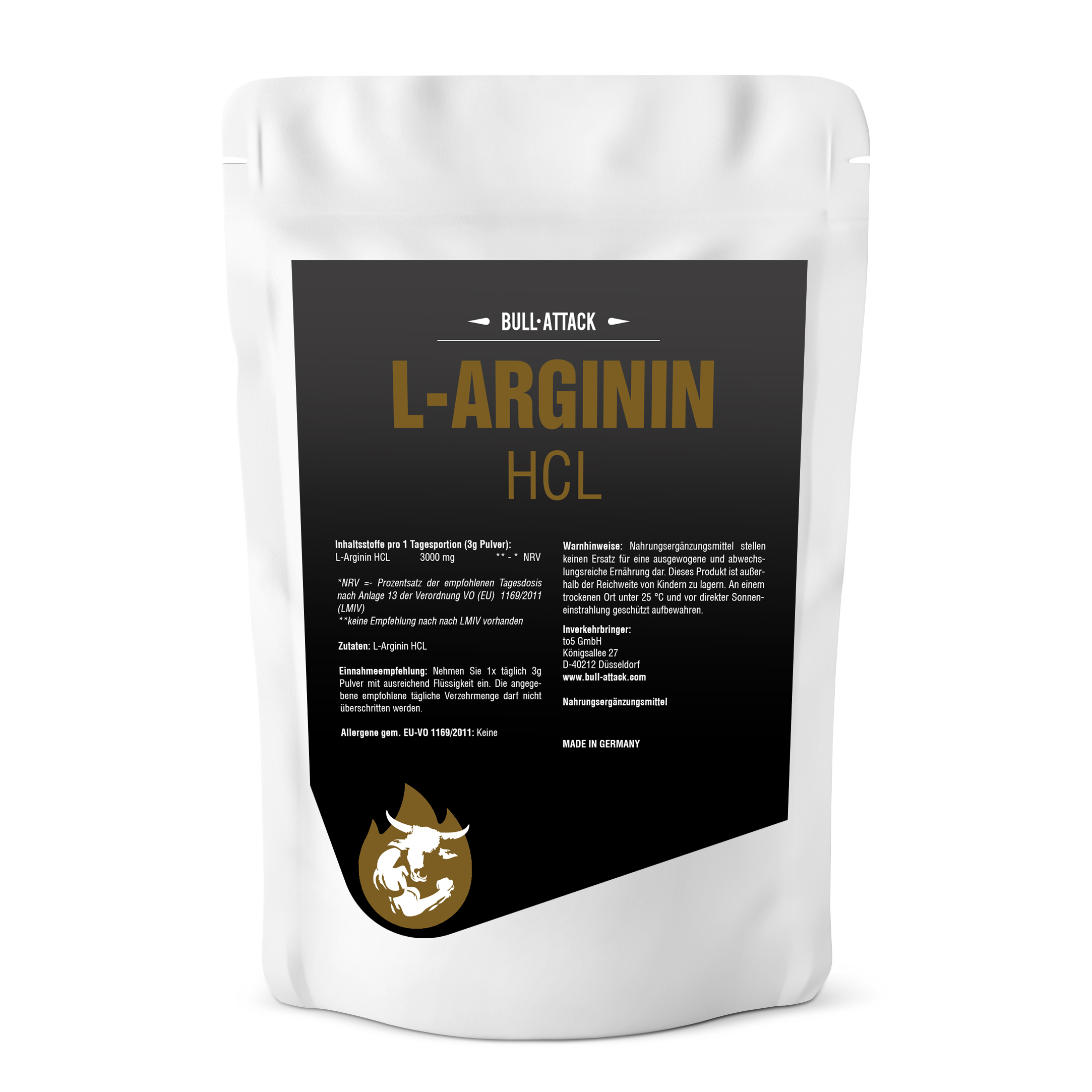 L-Arginin HCL Pulver | feines, hochwertiges Pulver 500g