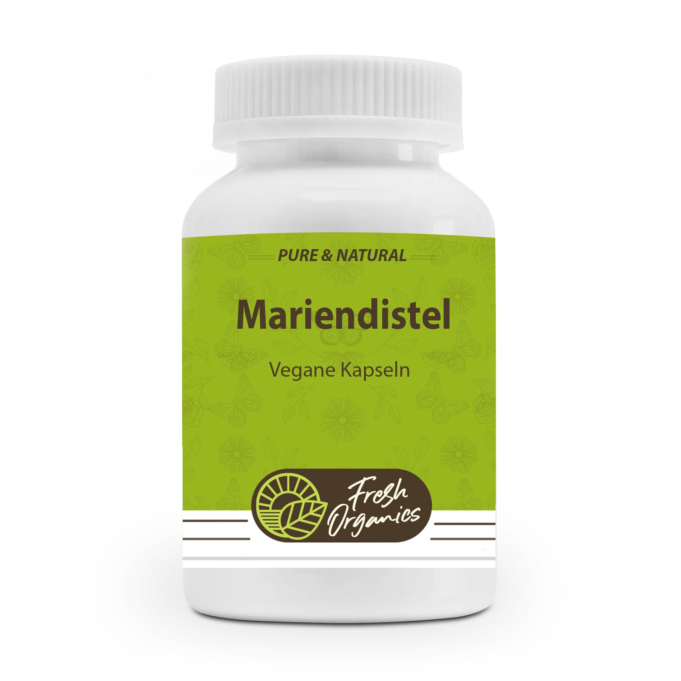 Mariendistel Extrakt | 180 vegane Kapseln | Milk Thiste | 80% Silymarin | Leberschutz - Leberunterstützung - Entgiftung der Leber
