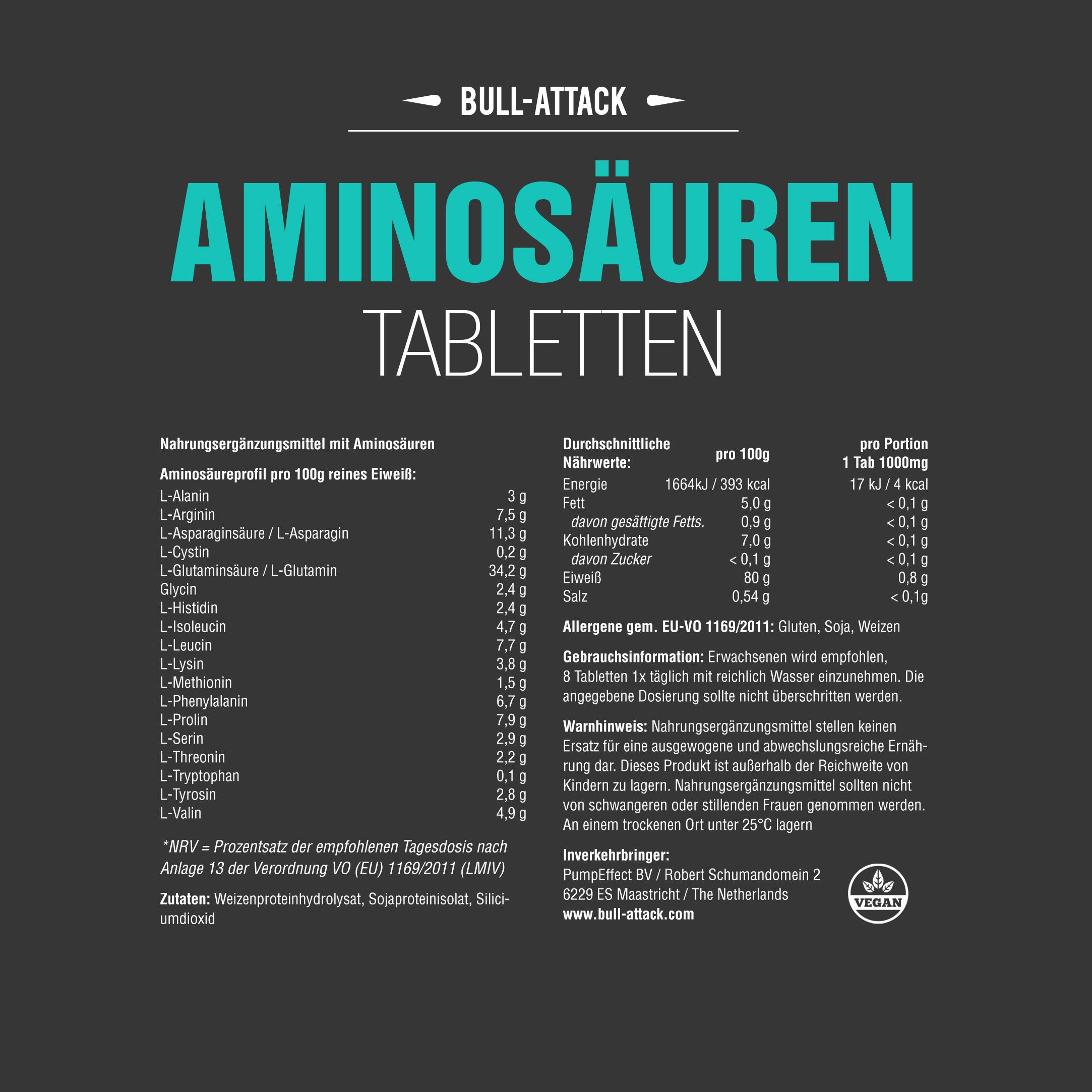 250 Aminosäuren Tabletten