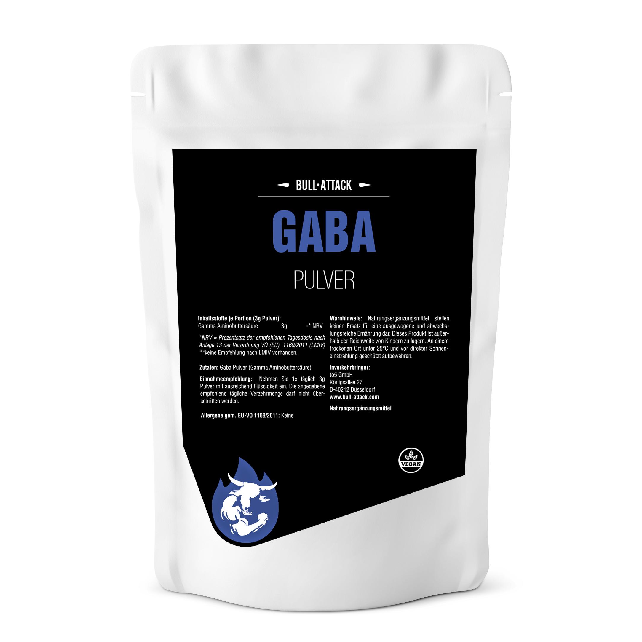 GABA Pulver -  reines, hochwertiges Pulver - GABA-Aminobuttersäure