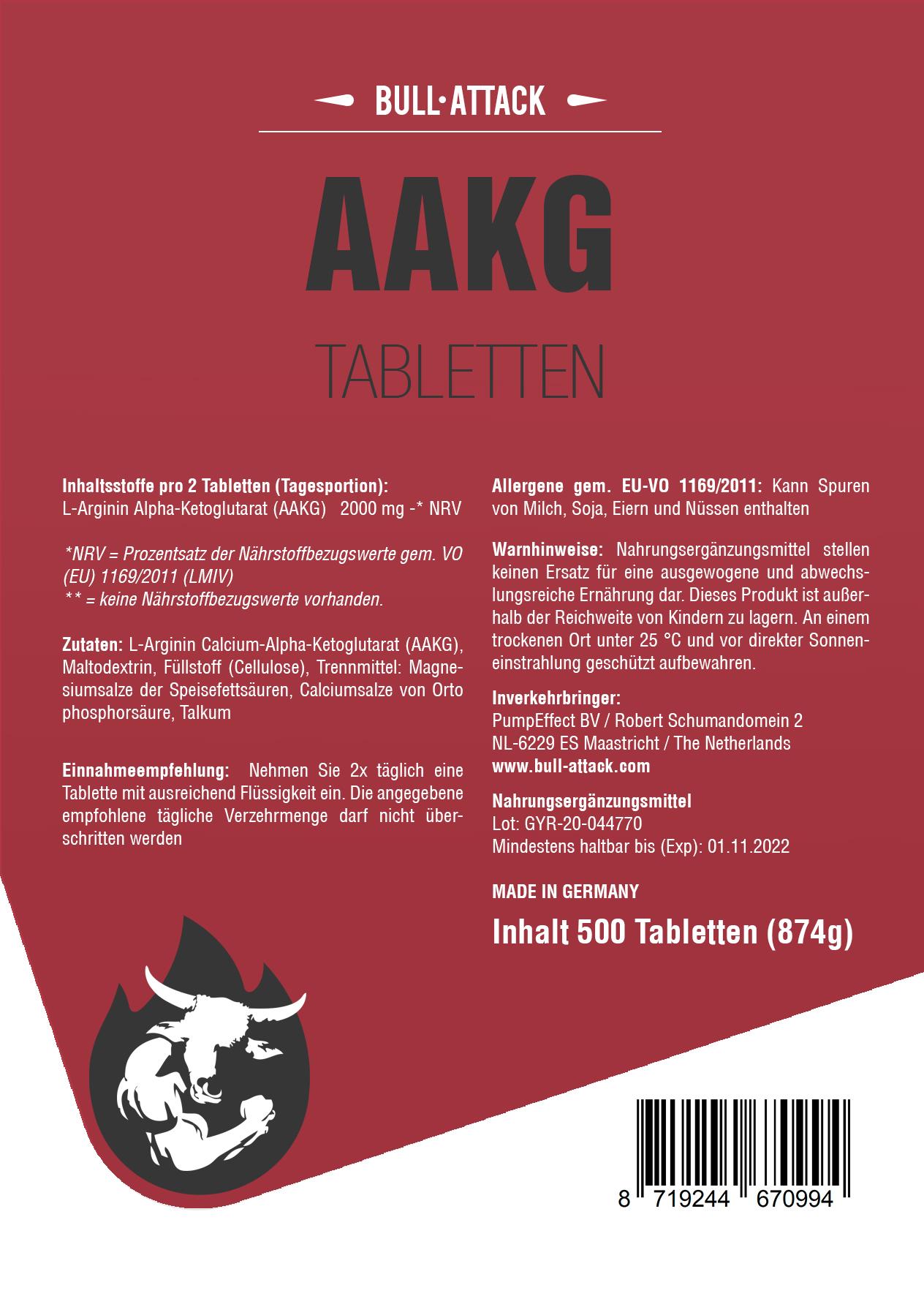 AAKG | 500 Tabletten