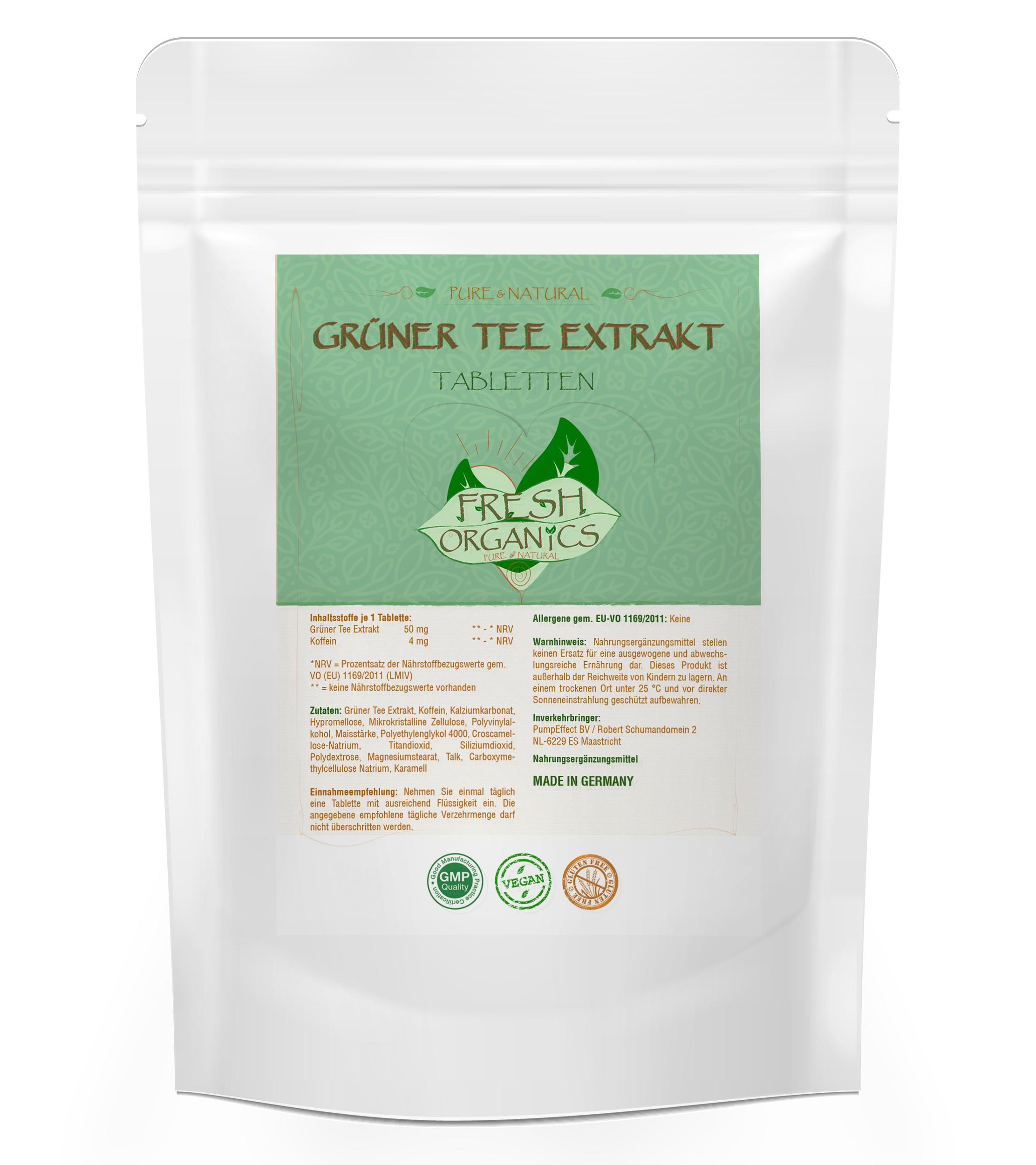 Green Tea Extract | Grüner Tee Extrakt  500 Tabletten