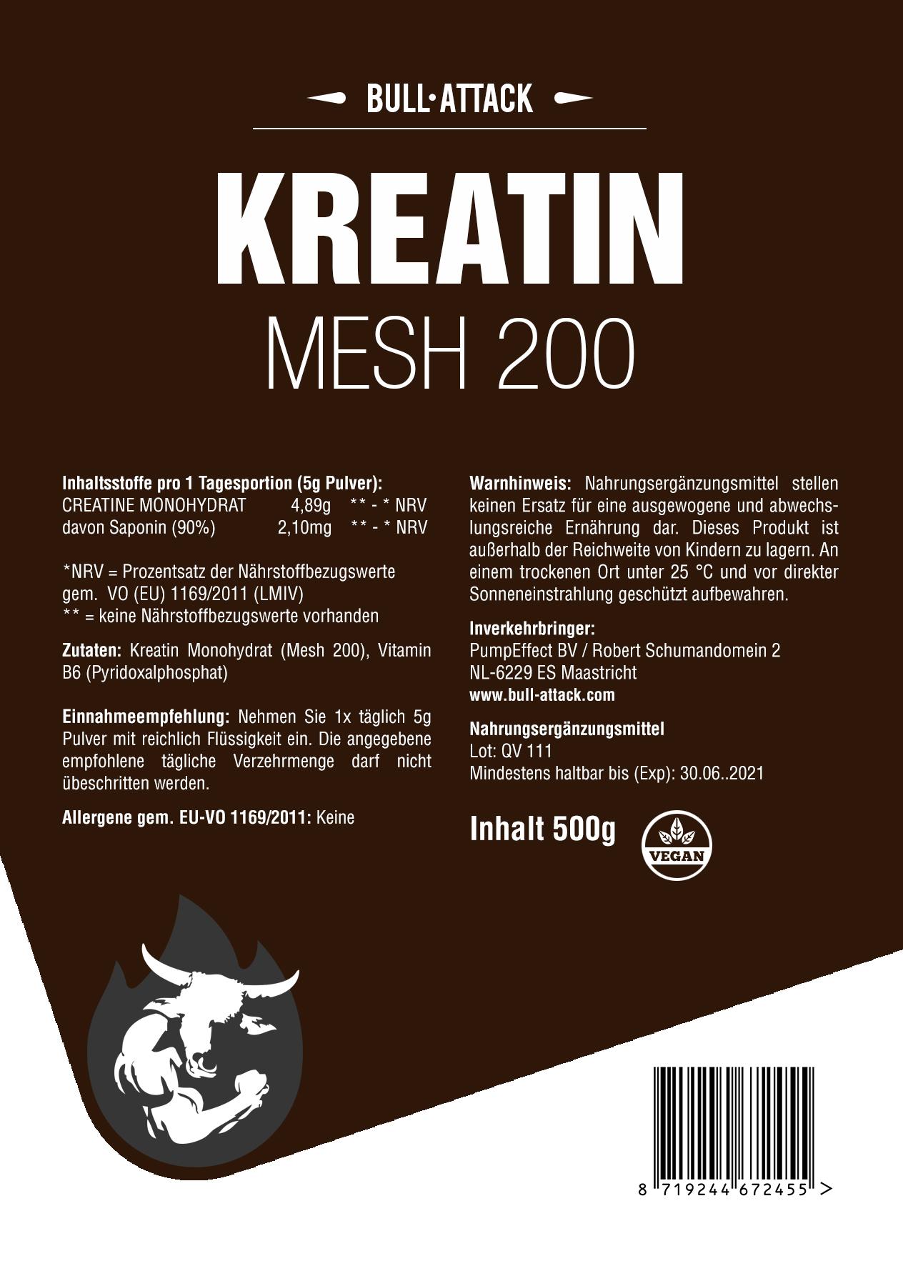 Kreatin | 500g Pulver