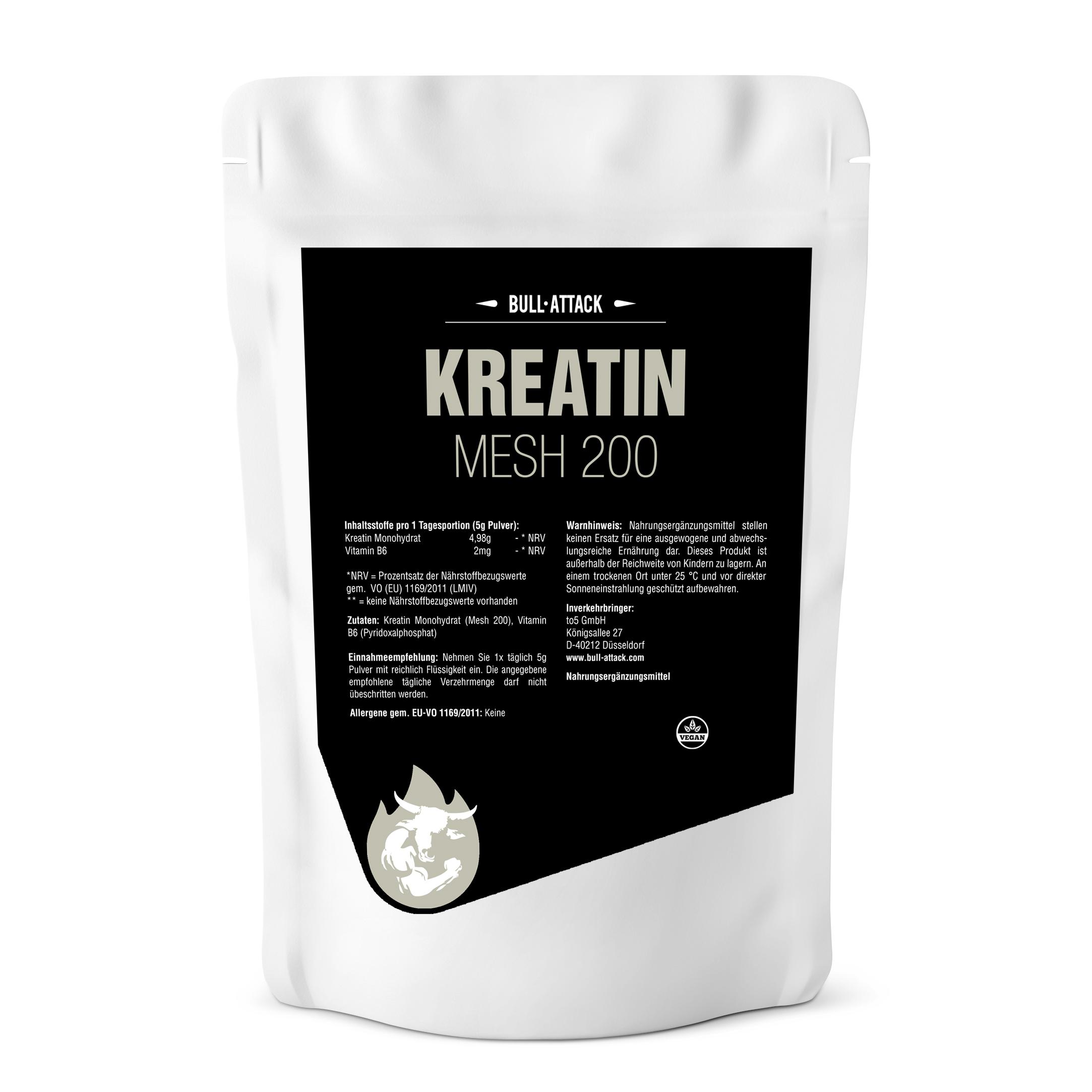 Kreatin HCL Pulver | ab 500g reines, hochwertiges Pulver