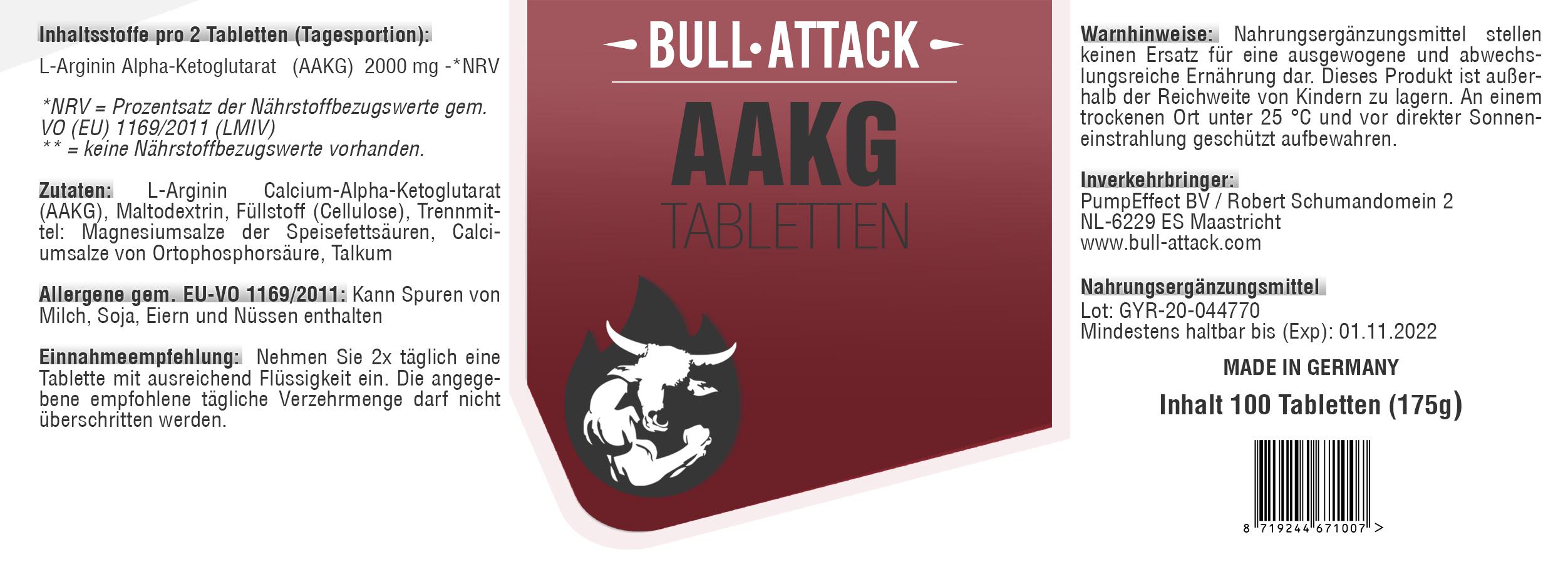 AAKG | Tabletten | Dose a 100 Stück