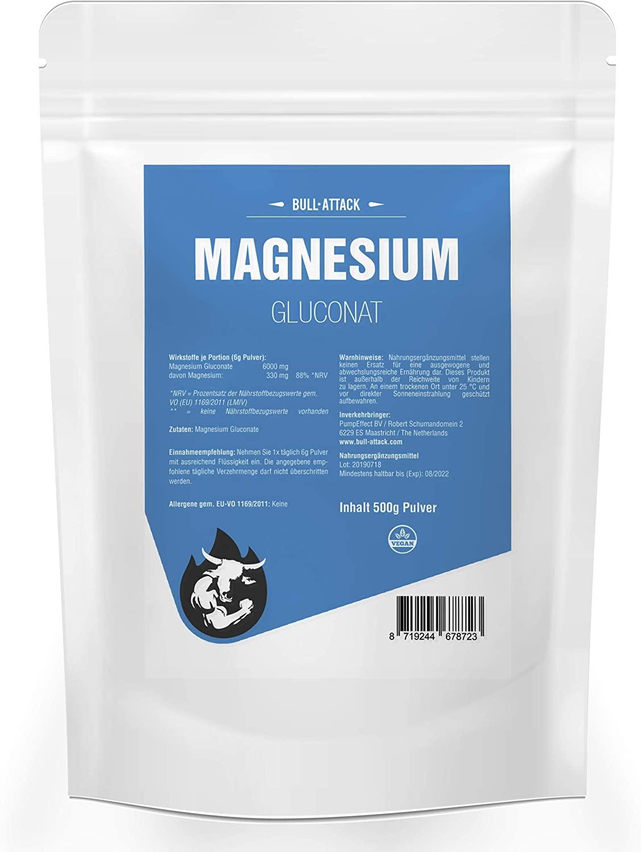 Magnesium | Gluconat 500g Pulver