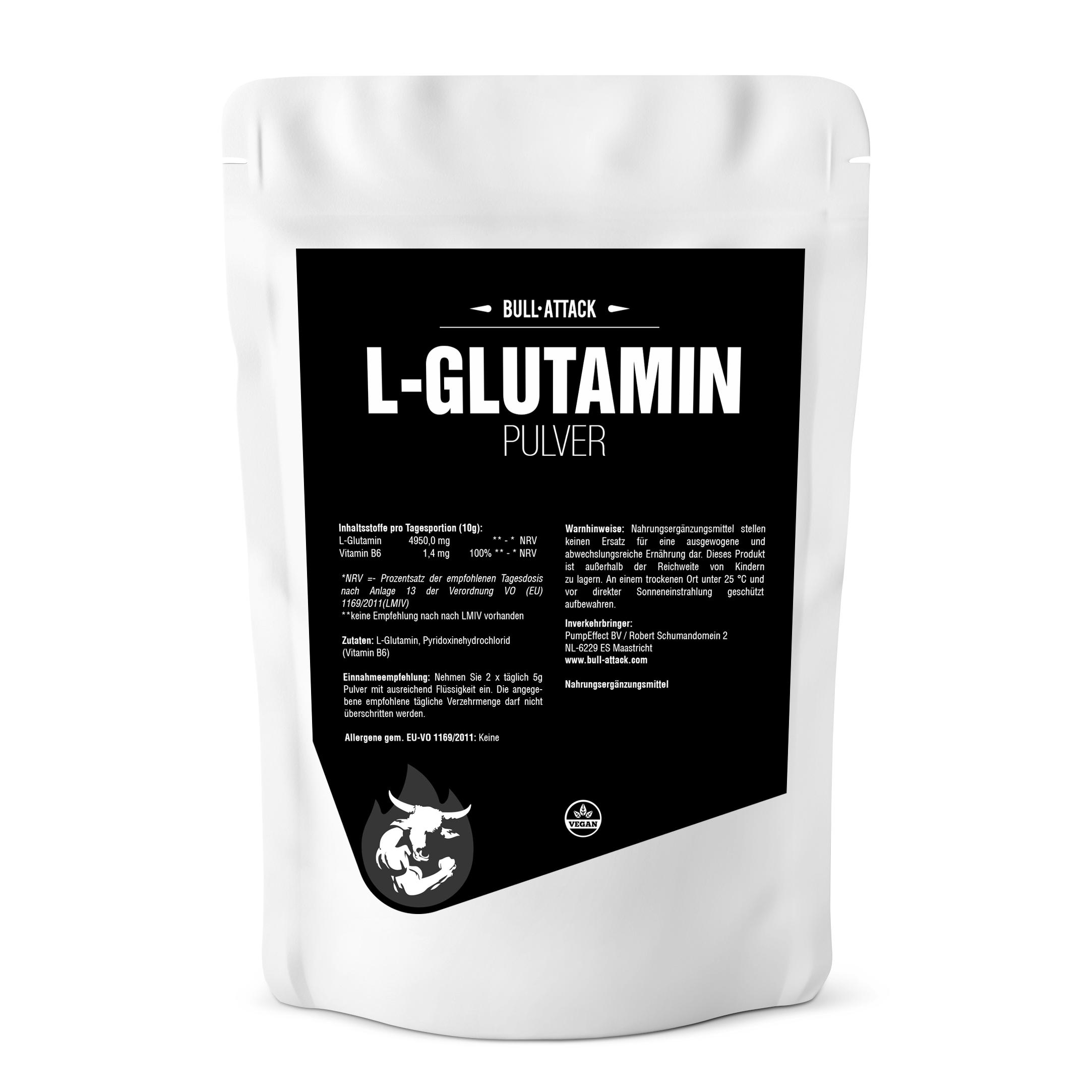 L-Glutamin Pulver | reines, hochwertiges Pulver 500g