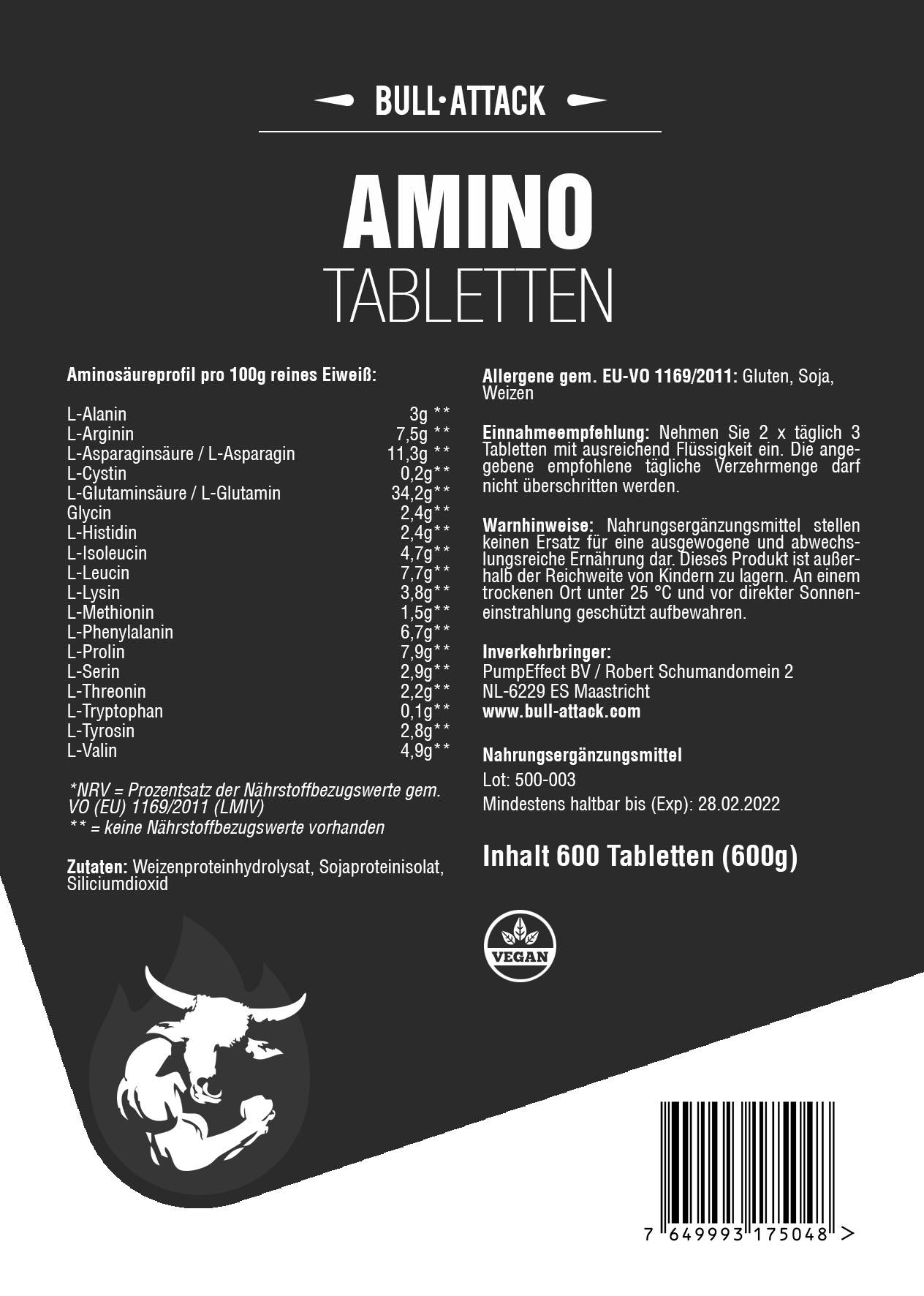 Aminosäuren- Komplex | 600 Tabletten