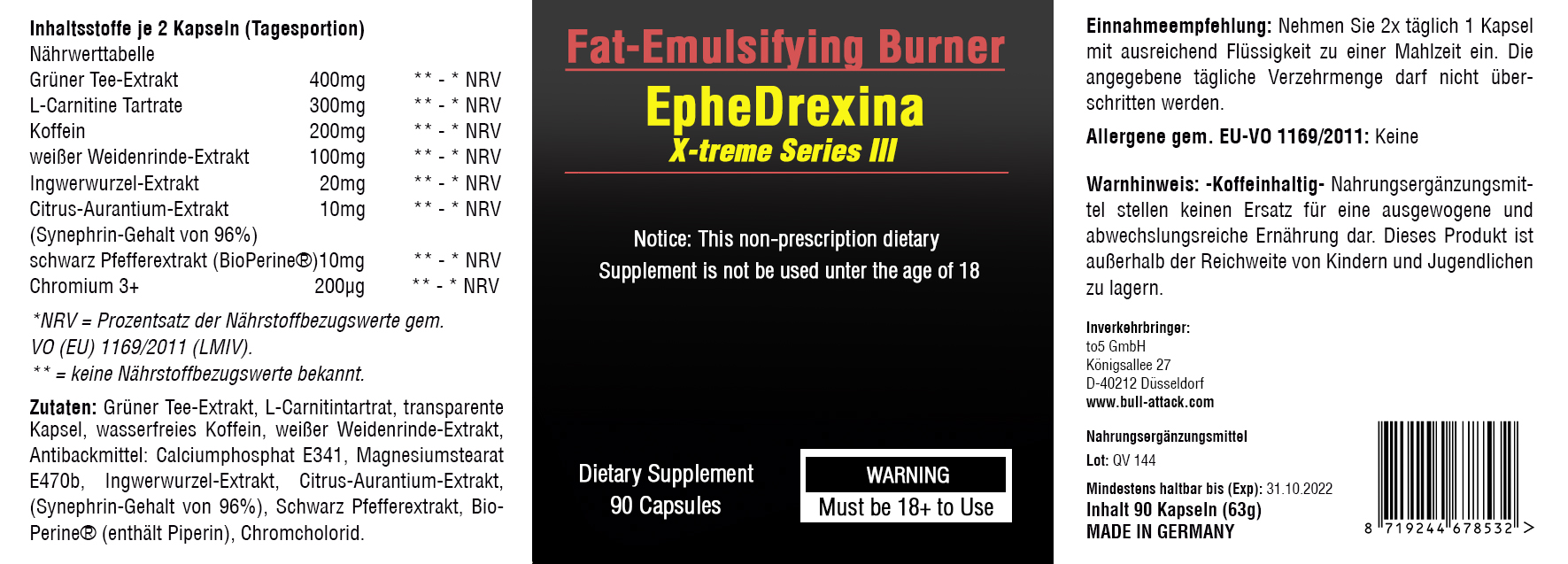 EpheDrexina III Fatburner