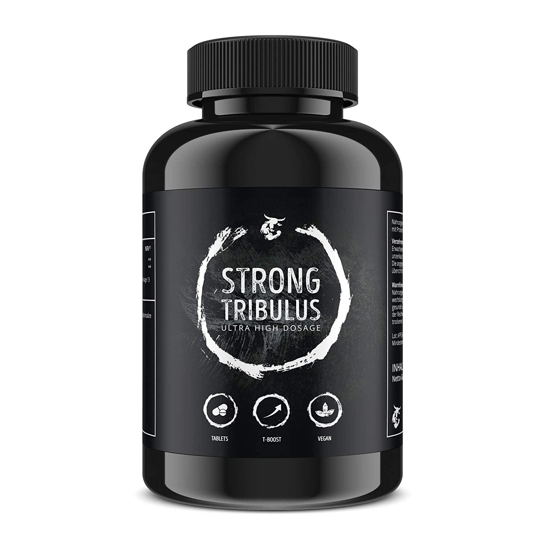 Strong Tribulus Tabletten | hochdosierter Saponin & Testosteron Booster