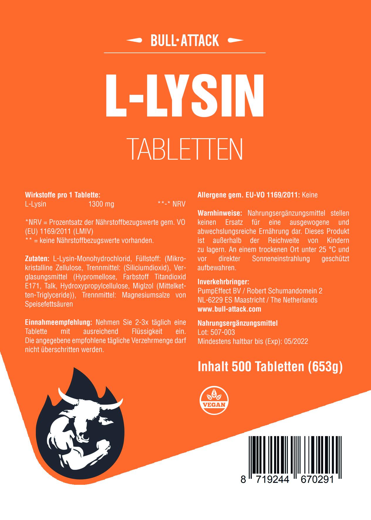 Angebot der Woche:  L-Lysin | 500 Tabletten