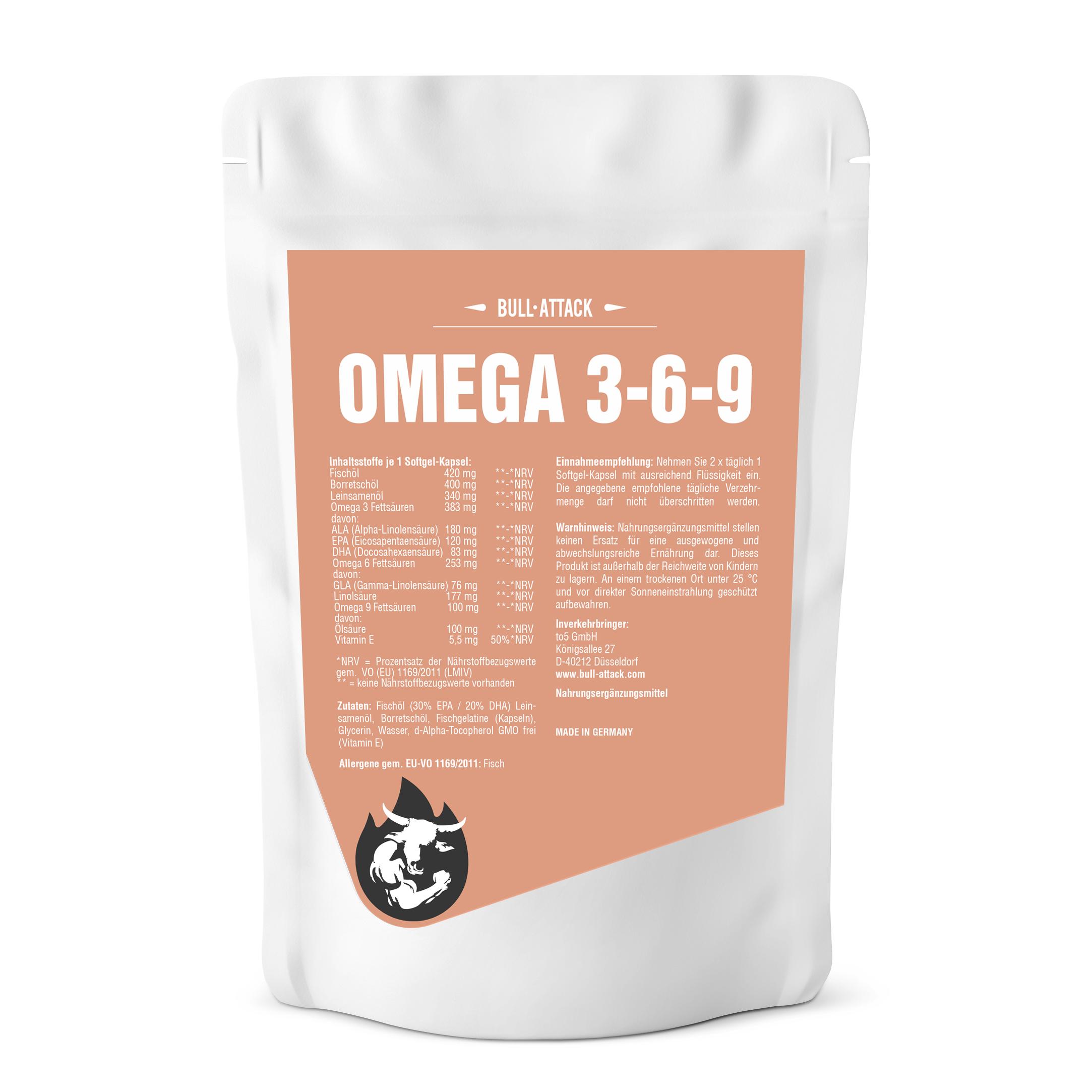 Omega 369  Softgel-Kapseln - Omega 3 Fettsäuren