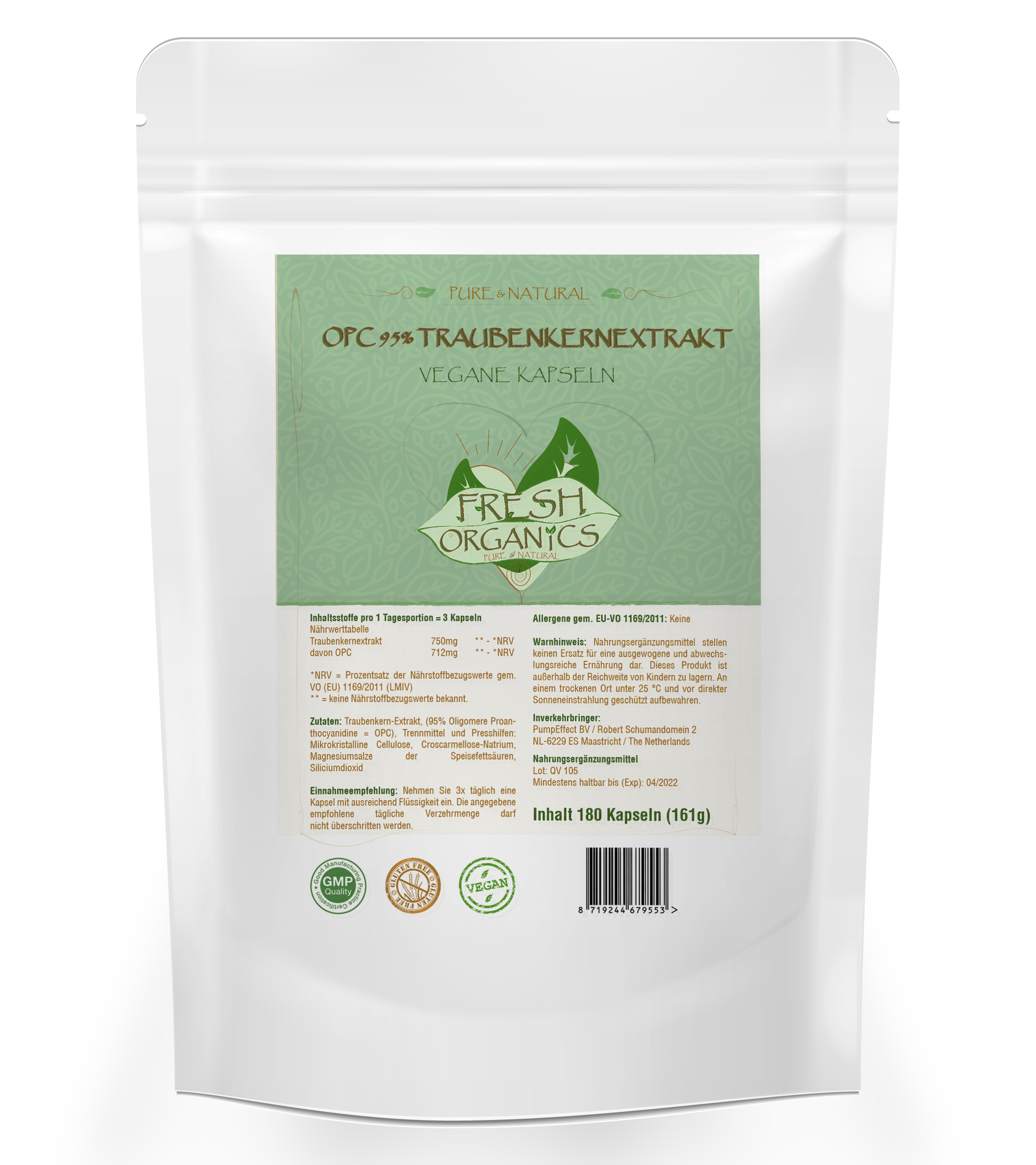 OPC Traubenkernextrakt Kapseln - Hochdosiert & Vegan
