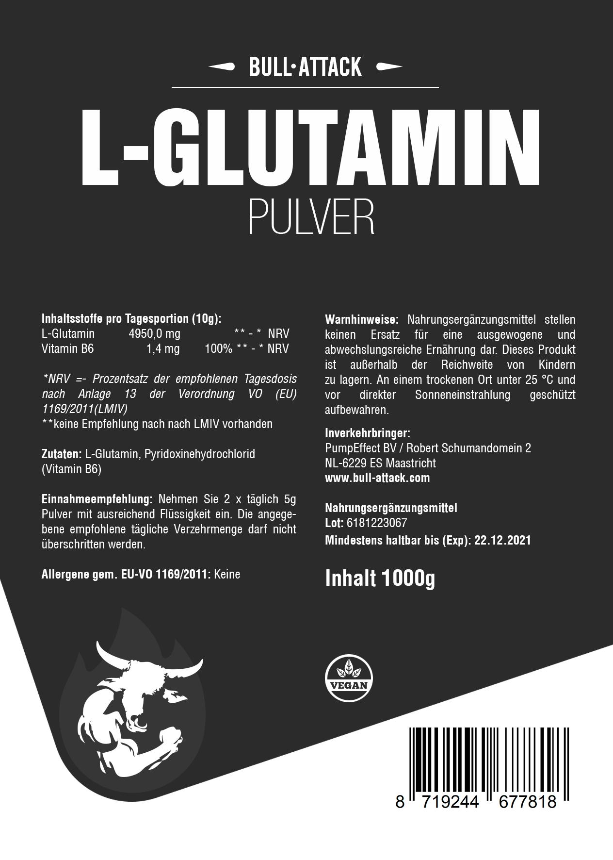 L-Glutamin | 1000g Pulver