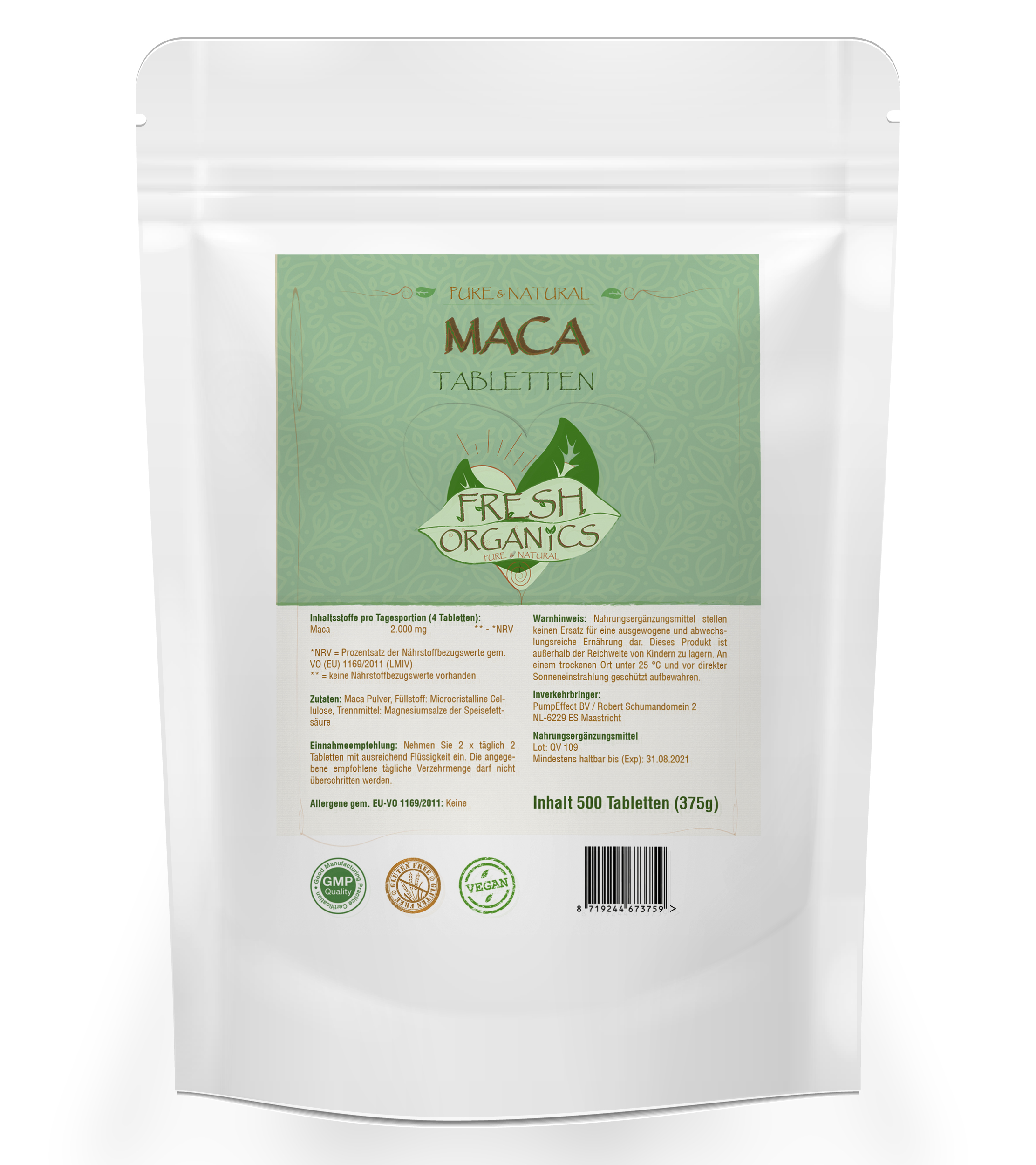 MACA | 500 Tabletten
