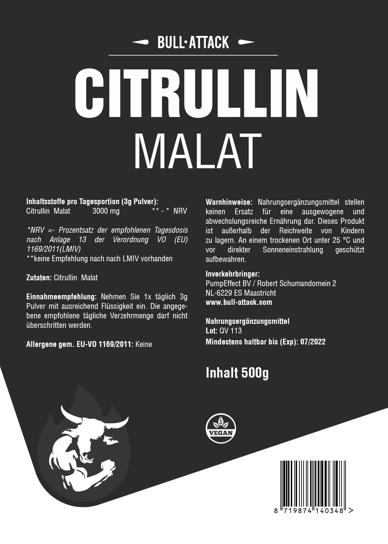 Citrullin Malat | 500g Pulver