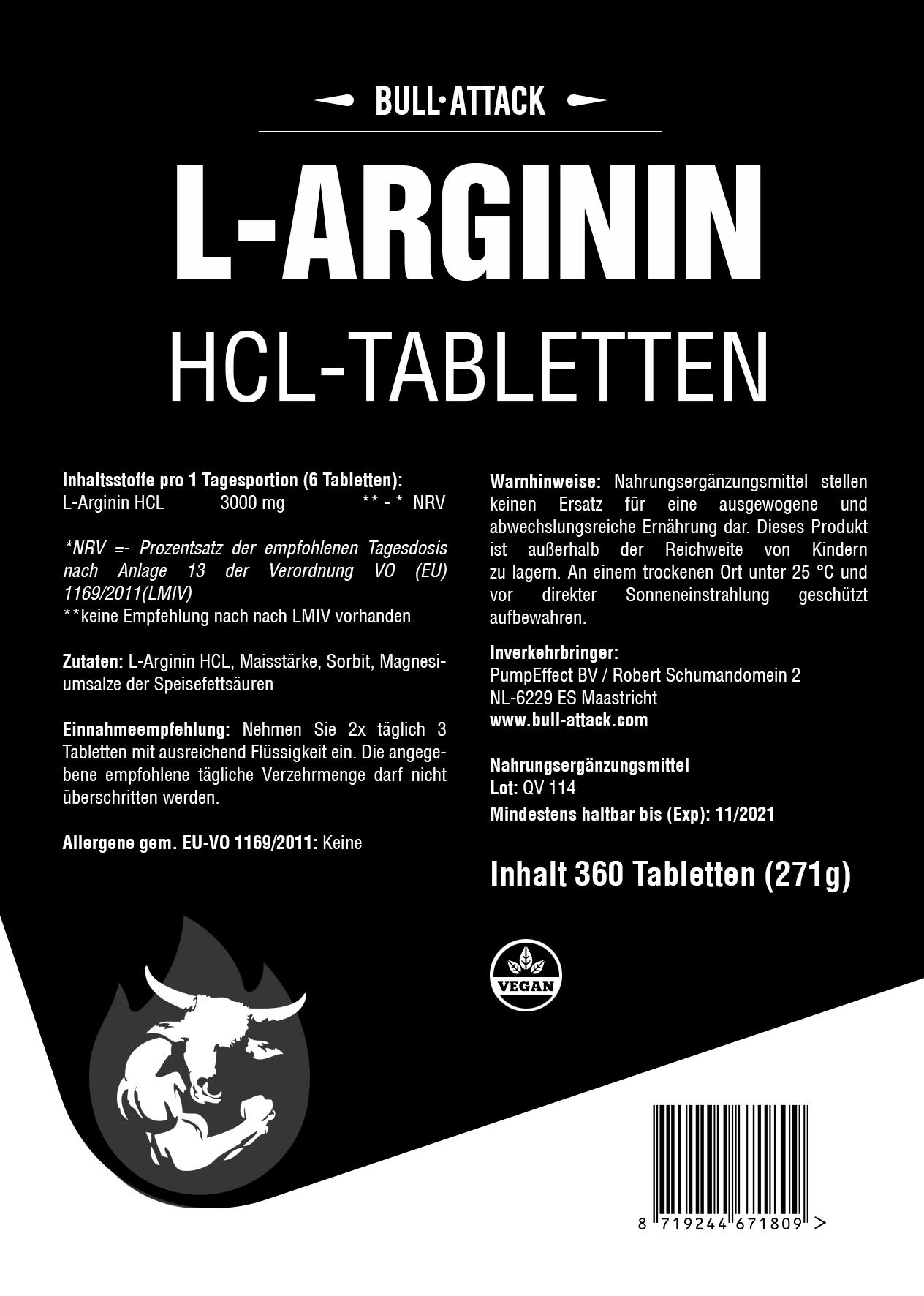 L-Arginin | 360 Tabletten