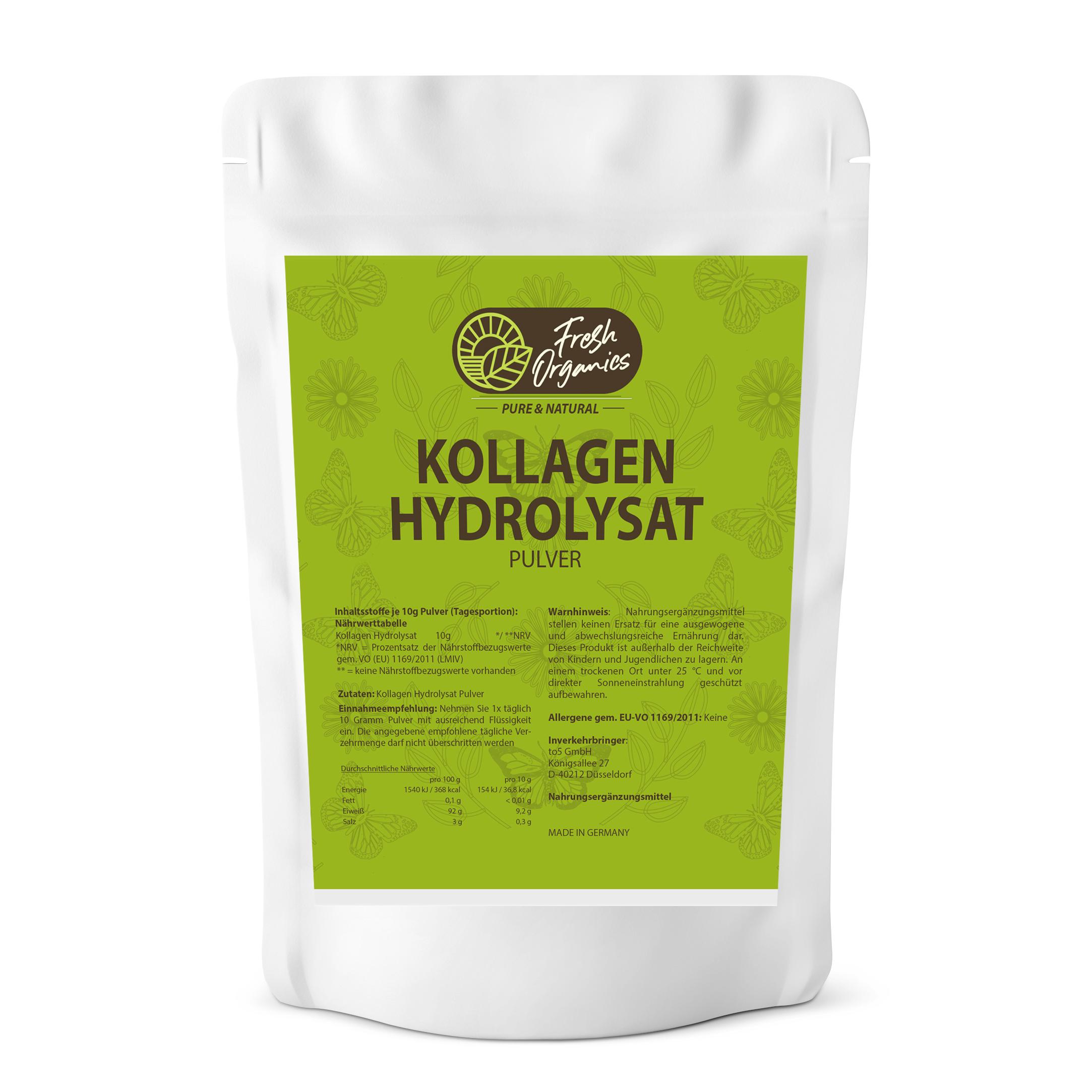 Kollagen Hydrolysat Pulver - hochwertiges, reines Pulver ohne Zusätze