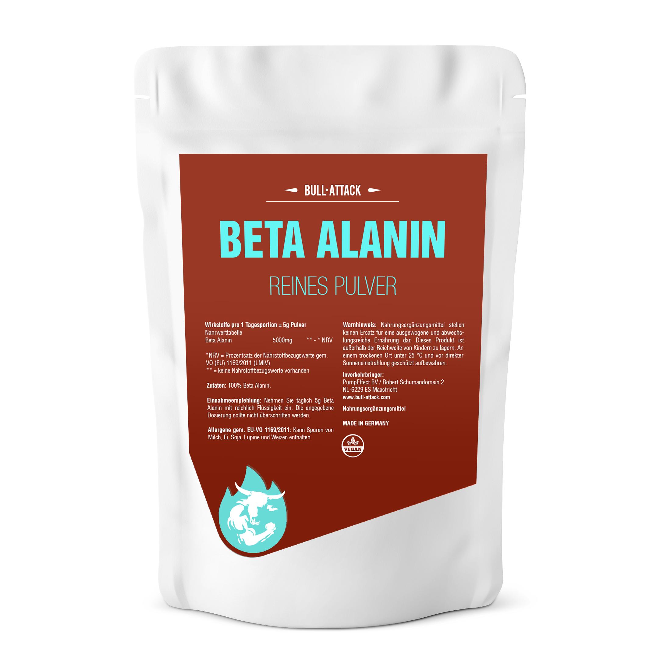 Beta Alanin Pulver | ab 500g reines, hochwertiges Pulver