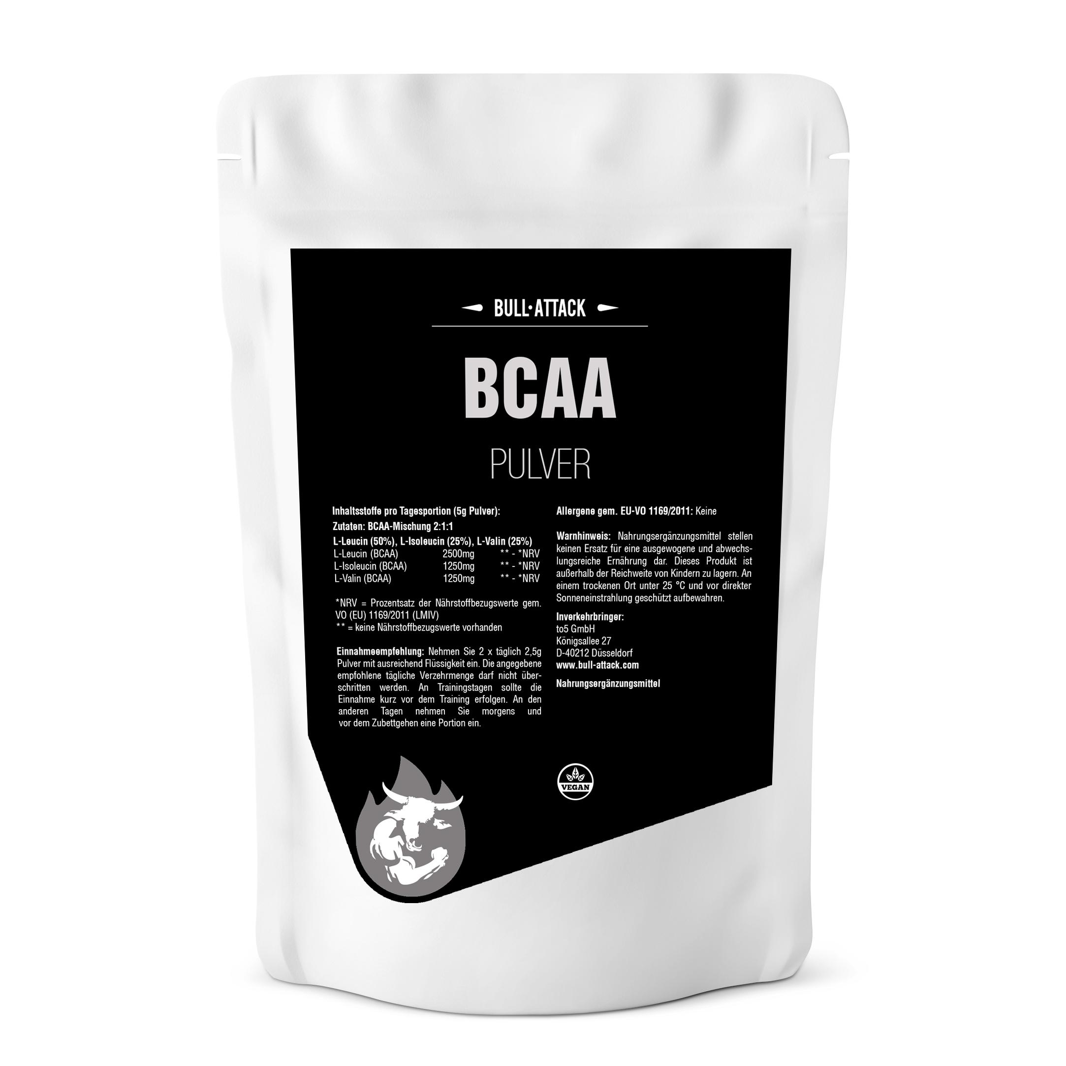 BCAA Pulver | hochwertiges, feines Pulver 500g