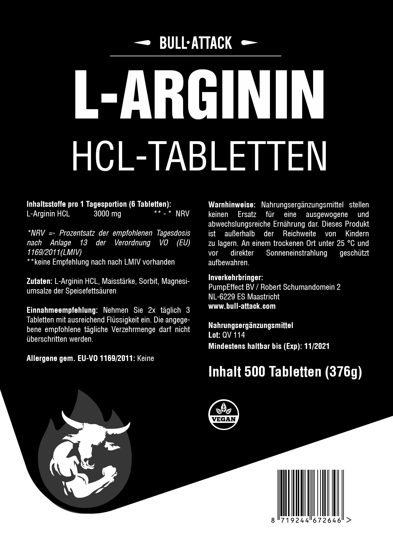 L-Arginin | 500 Tabletten