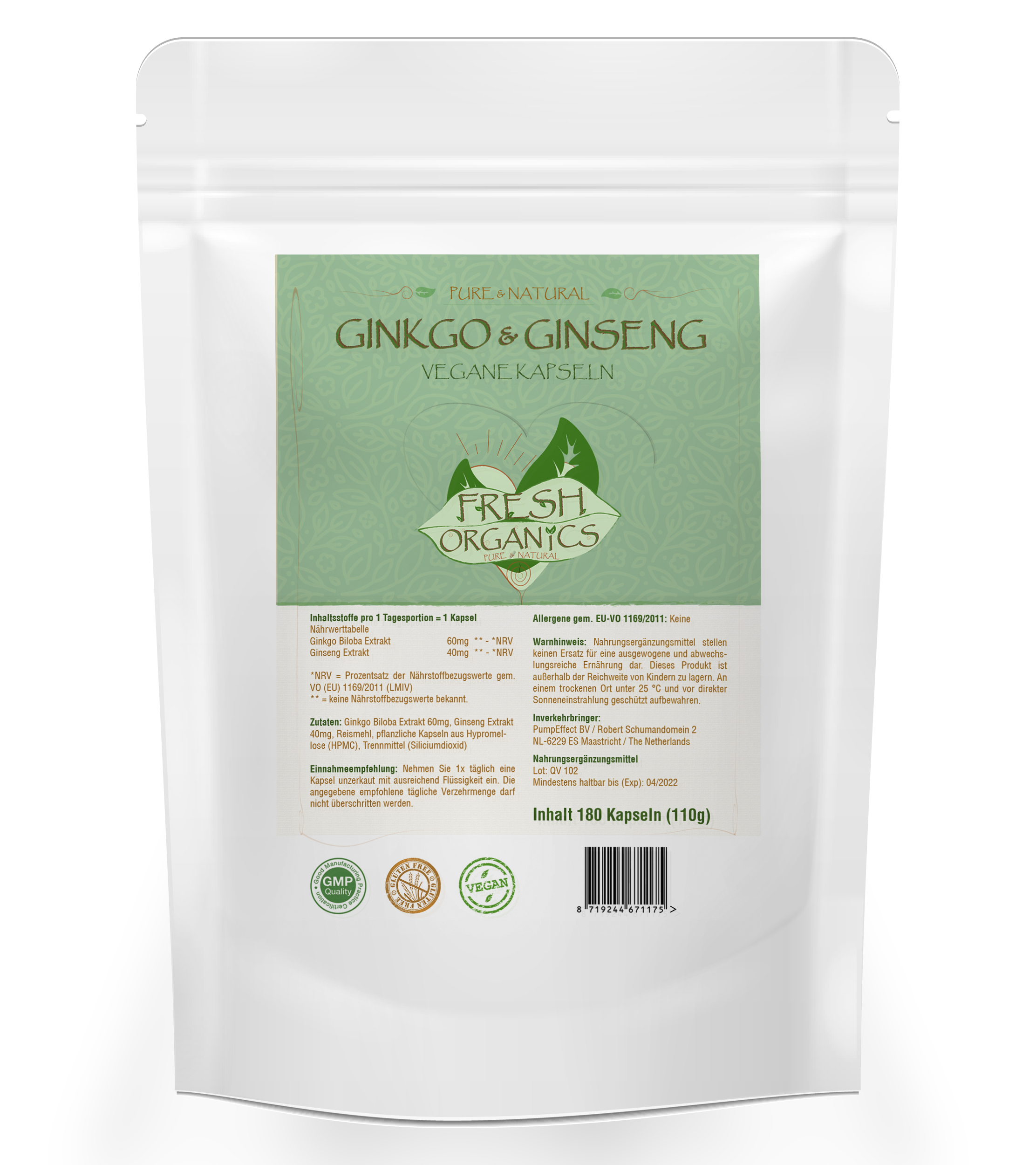 Ginkgo Ginseng | 180 Kapseln