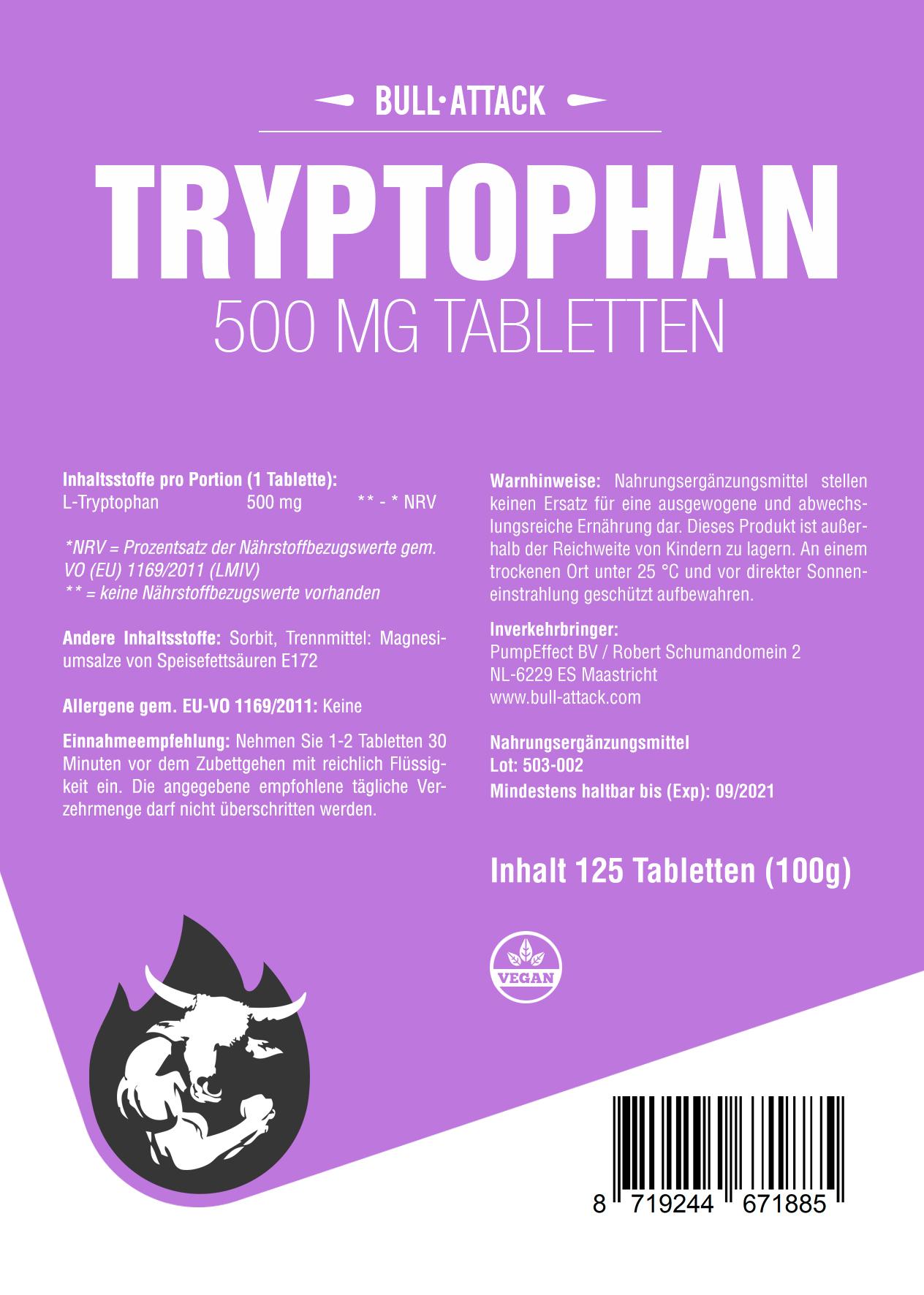 Tryptophan | 125 Tabletten