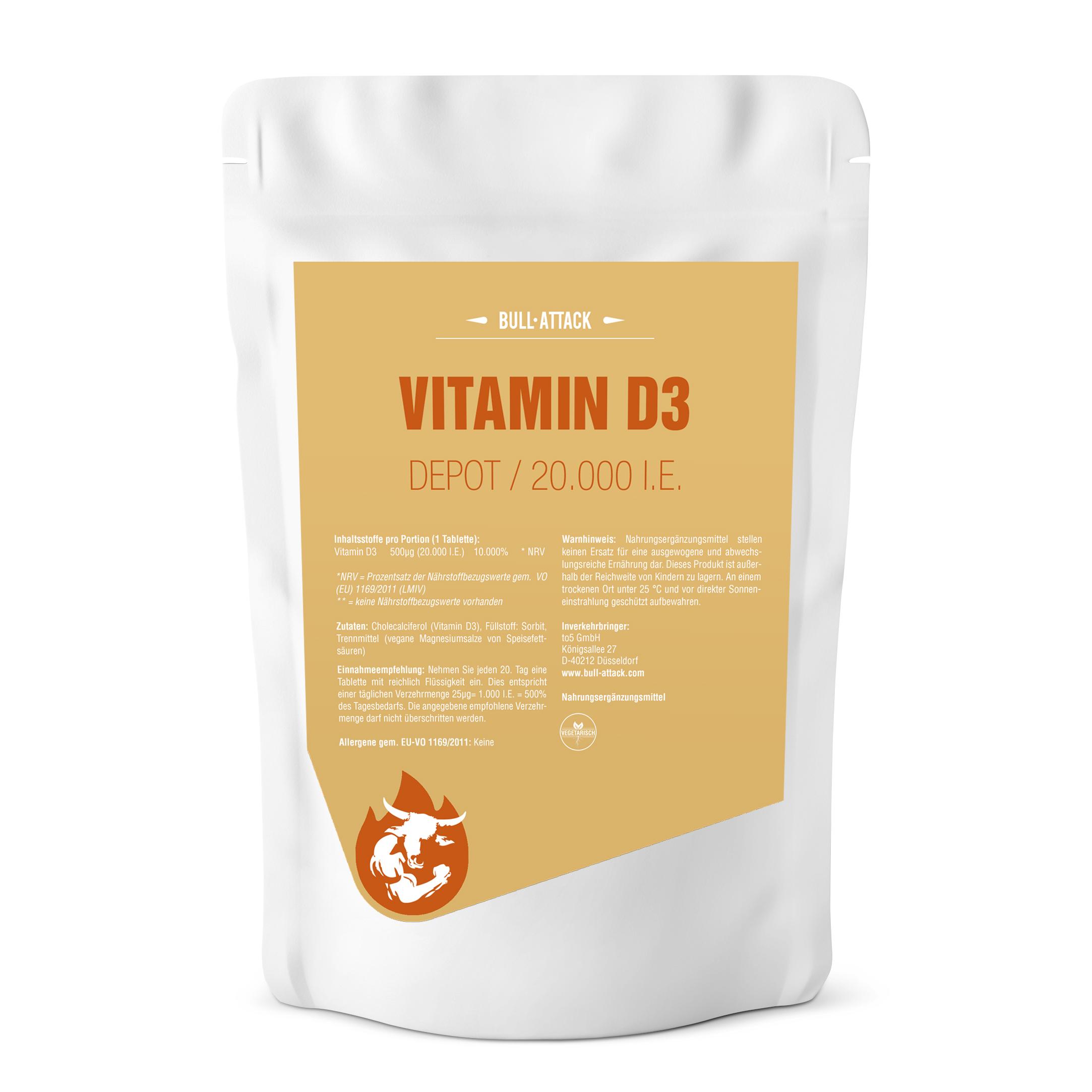 Vitamin D3 20000 i.E. Depot Tabletten