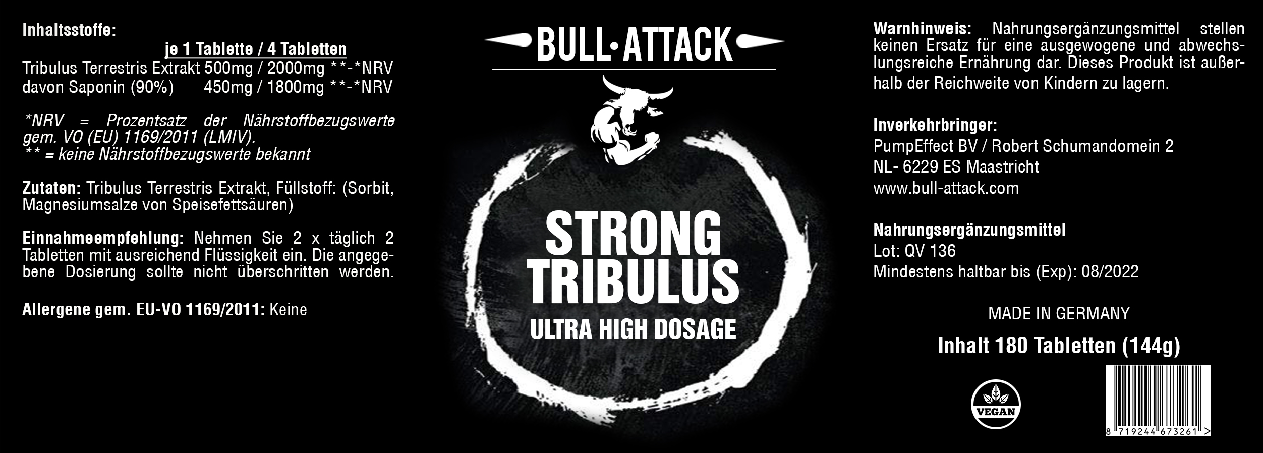 Strong Tribulus | 180 Tabletten