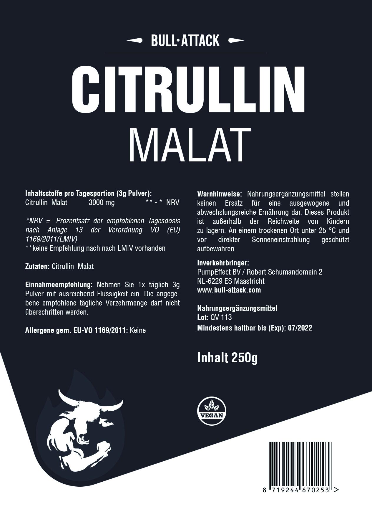 Citrullin Malat Pulver | ab  250g reines, hochwertiges Pulver