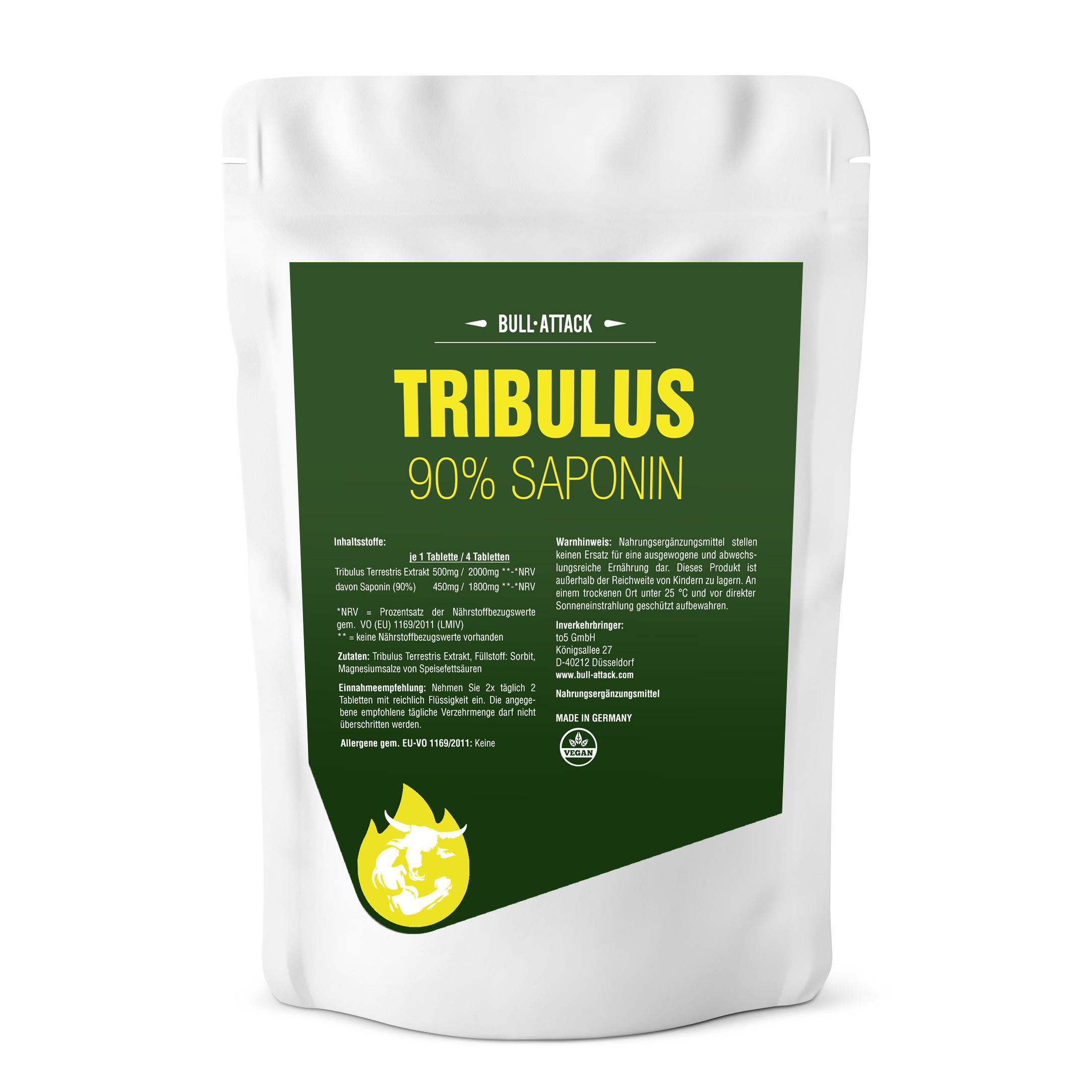 Tribulus Terrestris Tabletten - Saponin -  hochdosierte Tabletten 500 Stück