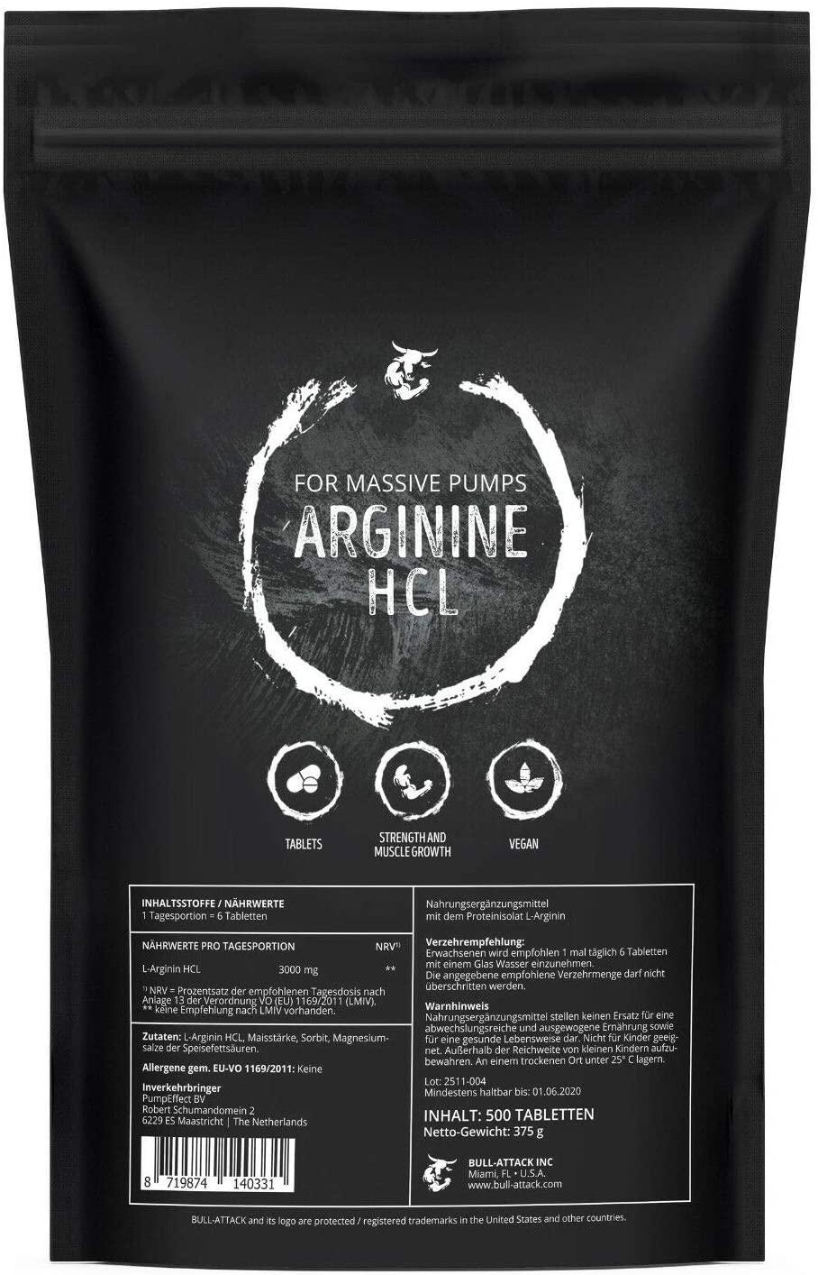L-Arginin | 500g Pulver